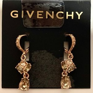 Givenchy Cluster Crystal Drop Earrings